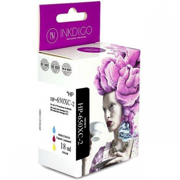Tusz INKDIGO (HP-650XC-2) kolor 18ml zamiennik HP (650/CZ102AE)