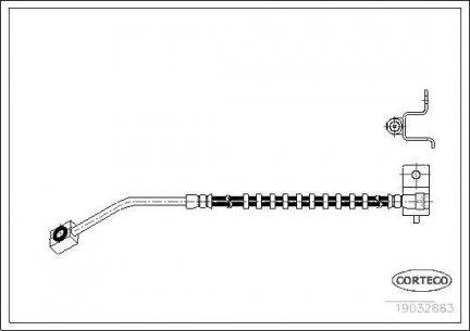 Przewód hamulcowy elastyczny ( Weżyk ) lewy przód Neon SRT4 03- 4860069ab