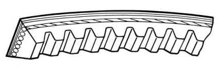 Pasek klinowy 10 x 1050