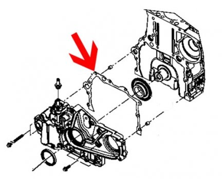 Uszczelka pokrywy rozrządu 68027582AA Wrangler 07-10 2.8 crd