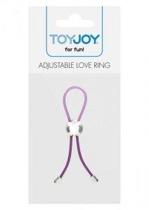 Pierścień-ADJUSTABLE LOVE RING PURPLE