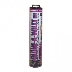 Zestaw do klonowania penisa Wibrujący Fioletowy - Clone A Willy Kit Neon Purple