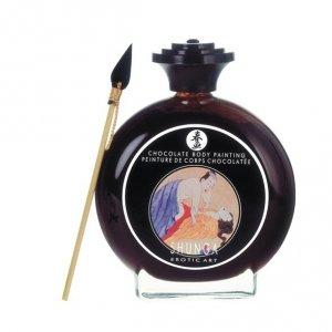 Farba do malowania ciała jadalna - Shunga Chocolate Bodypainting Czekolada