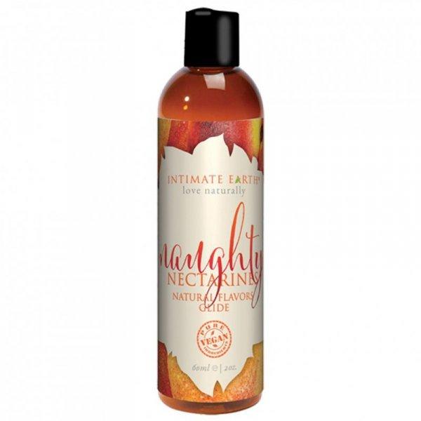 Środek nawilżający - Intimate Earth Natural Flavors Glide Naughty Nectarines 60 ml