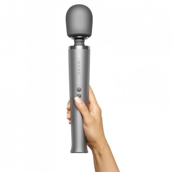 Masażer - Le Wand Rechargeable Massager Grey
