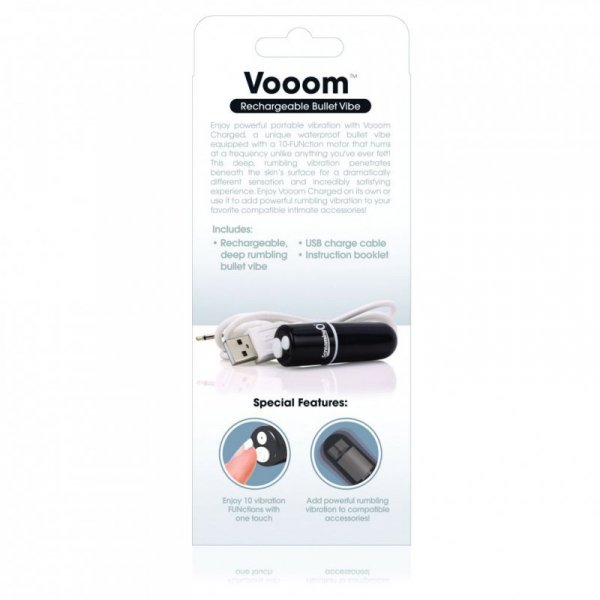 Wibrator - The Screaming O Charged Vooom Bullet Vibe Black
