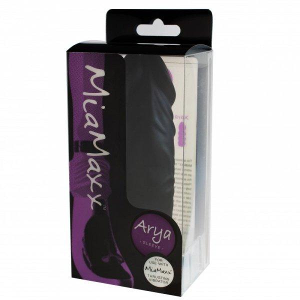 Nakładka na wibrator - MiaMaxx Arya Sleeve Penis Black