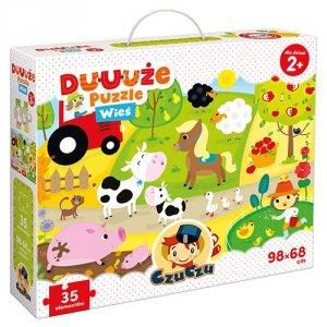 CzuCzu Duuuże puzzle z dziurką Wieś