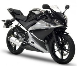 2008 Yamaha YZF-R125 BLACK METALLIC