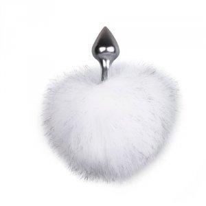 Bunny Tail Plug No. 1 - Silver/WhiteKorek analny