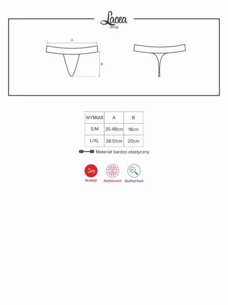 Bielizna-Lacea stringi dwupak panterka L/XL