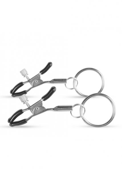 Stymulator Metal Nipple Clamps With Ring
