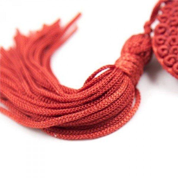 Heart Nasutniki Tassels Czerwone