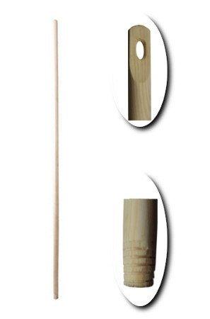 Kij drewniany z gwintem ciętym 130cm