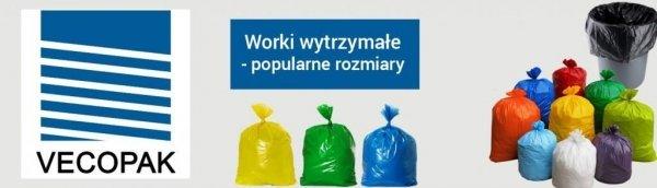 Worki na śmieci HDPE 35L 50szt. czarne