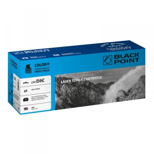Black Point toner LCBPC054HC zastępuje Canon CRG-054HC cyan