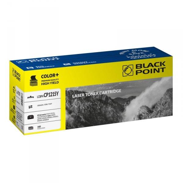 Black Point toner LCBPHCP1215Y zastępuje HP CB542A / CRG-716Y, żółty