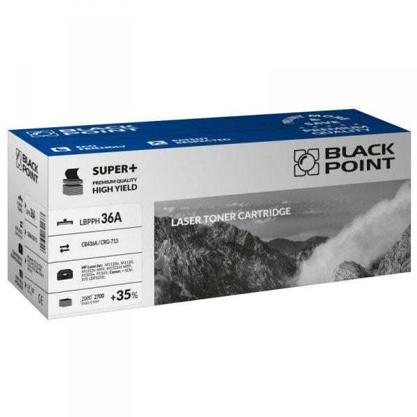 Black Point toner LBPPH36A zastępuje HP CB436A / CRG-713, 2700 stron