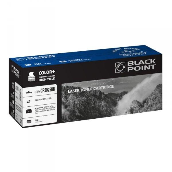 Black Point toner LCBPHCP2025BK zastępuje HP CC530A / CRG-718B, czarny