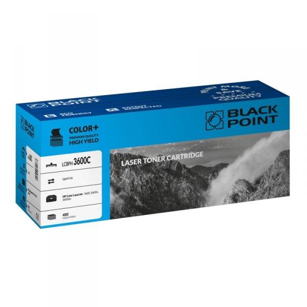 Black Point toner LCBPH3600C zastępuje HP Q6471A, niebieski