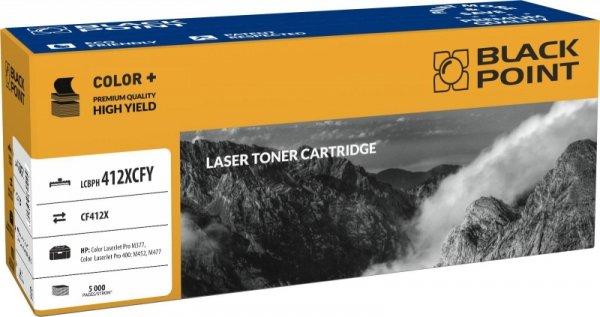 Black Point toner LCBPH412XCFY zastępuje HP CF412X, żółty