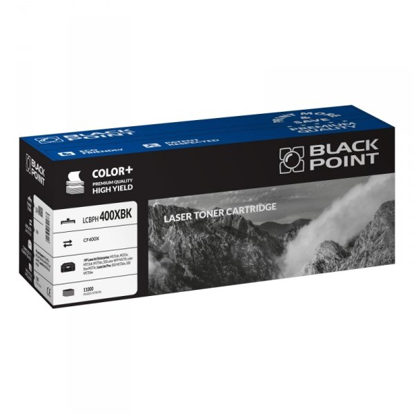 Black Point toner LCBPH400XBK zastępuje HP CE400X, czarny