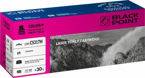 Black Point toner LCBPLCS317M zastępuje Lexmark 71B20M0, czerwony