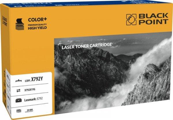 Black Point toner LCBPLX792Y zastępuje Lexmark X792X1YG, żółty