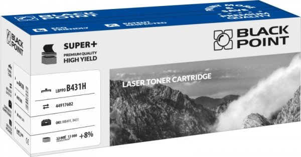 Black Point toner LBPPOB431H zastępuje Oki 44917602, 13000 stron