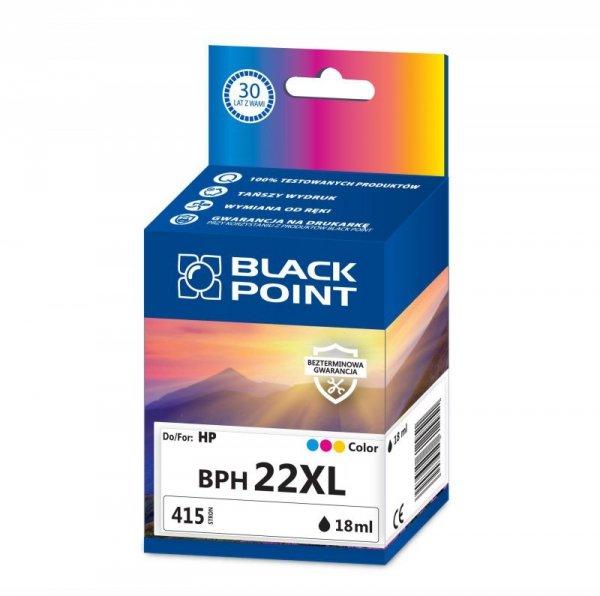 Black Point tusz BPH22XL zastępuje HP C9352CE, trójkolorowy