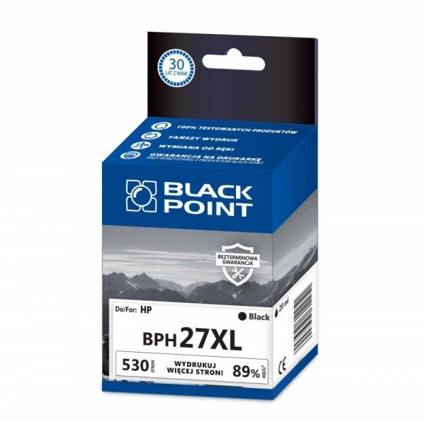 Black Point tusz BPH27XL zastępuje HP C8727AE, czarny