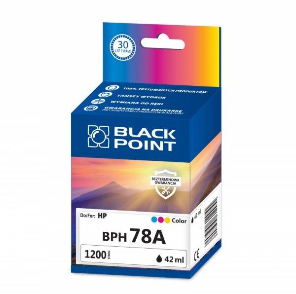 Black Point tusz BPH78A zastępuje HP C6578A, trójkolorowy