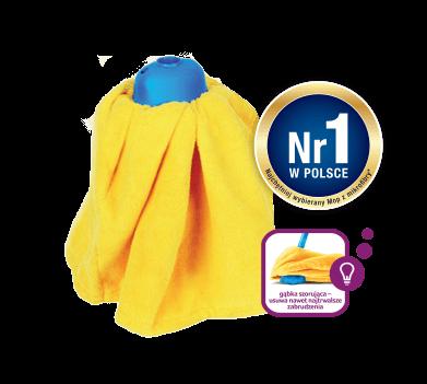 Gosia mop żółta mikrofibra sukienka