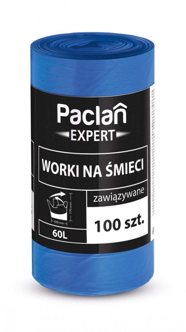 Worki na smieci EXPERT Z TASMA 60L 100 szt. PACLAN