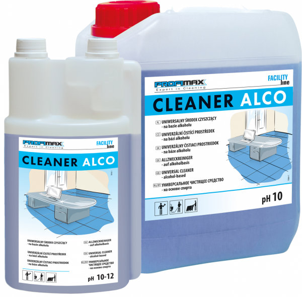 CLEANER ALCO - uniwersalny środek czyszczący na bazie alkoholu 10l