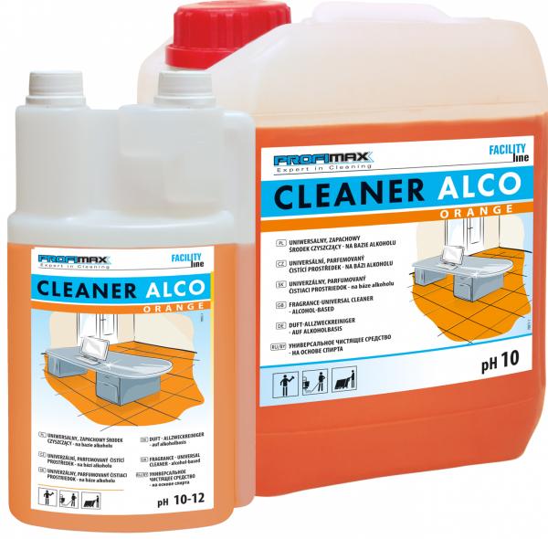 CLEANER ALCO ORANGE - uniwersalny zapachowy środek czyszczący na bazie alkoholu 10l