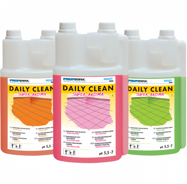DAILY CLEAN Super Aroma - do zapachowego mycia - mydło marsylskie 1l