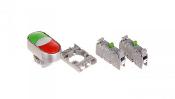 Przycisk sterowniczy podwójny 22mm czerwony/zielony 2Z z samopowrotem SP22-2KL-20Z/C
