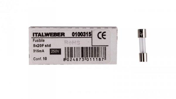 Wkładka aparatowa 5x20mm 0,315A szybka (F) L520FK00-315 /10szt./