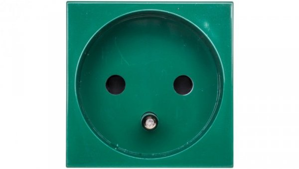 MOSAIC Gniazdo pojedyncze z/u 16A antybakteryjne zielone 077116
