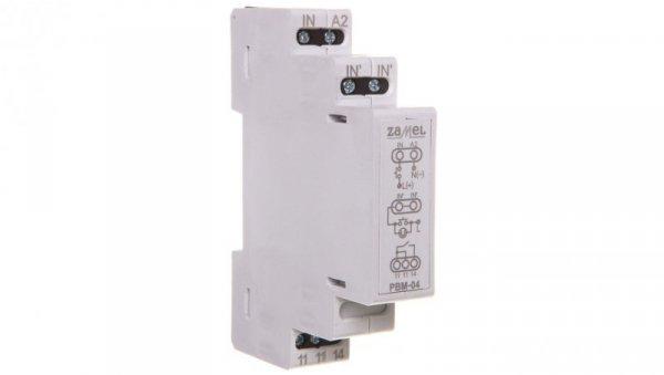 Przekaźnik bistabilny napieciowy 12-230V AC/DC PBM-04/U EXT10000067