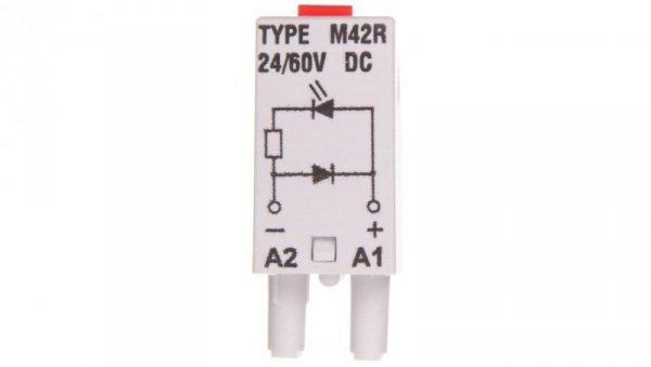 Moduł sygnalizacyjny LD (diody: LED czerwony + D) 24-60V DC M42R szary 854844