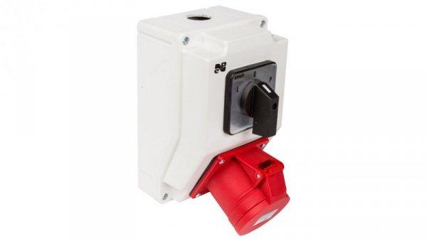 Zestaw instalacyjny z gniazdem 32A 4P RS-Z (L-0-P) czerwony 6280-20