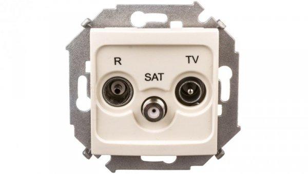 Simon 15 Gniazdo antenowe RTV/SAT przelotowe beżowe 1591467-031