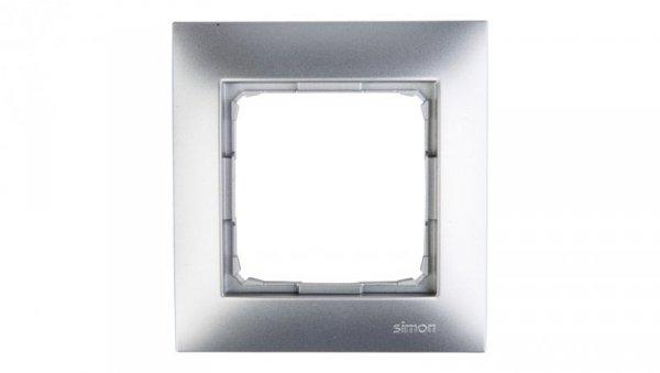 Simon 54 Premium Ramka pojedyncza srebrny mat /do karton-gips/ DRK1/43