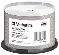 Verbatim CD-R 52x 700MB 50P CB DL Printable Azo 43745
