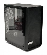 Fractal Design FDE Meshify C Blackout TG 33pct tint uATX/ATX/ITX