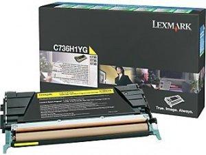Lexmark Toner Optra C73x/X73x Yellow 10K C736H1YG