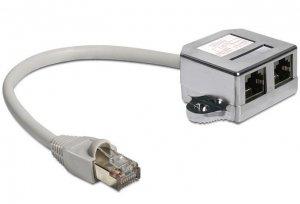 Delock Adapter Rozdzielacz LAN 1xRJ45/2xRJ45 Ethernet