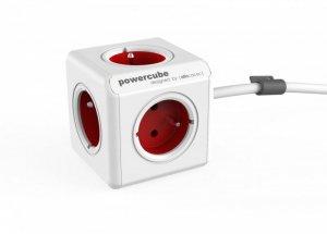 Allocacoc Listwa zasilająca PowerCube Extended 1,5m 2300RD/FREXPC Czerwona